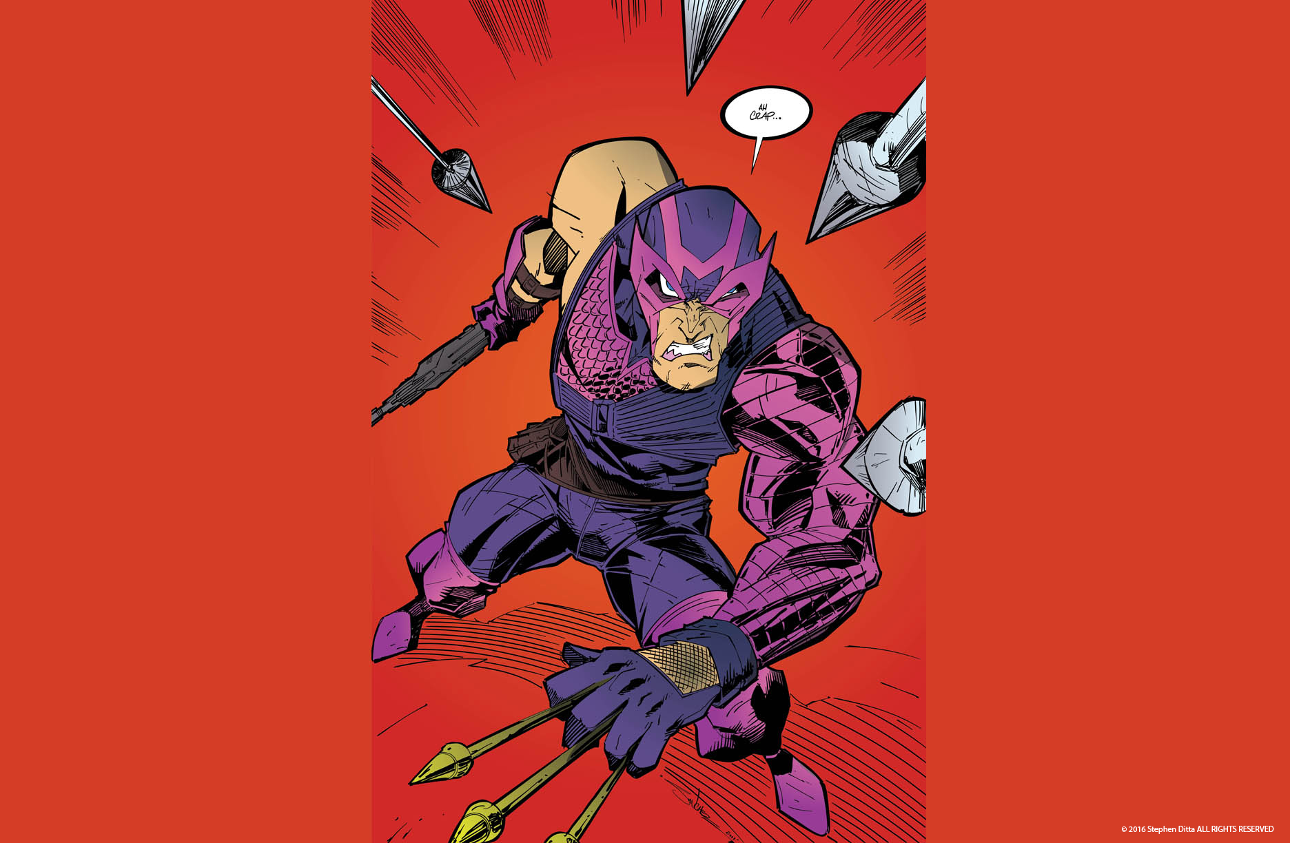 Hawkeye Inking and Coloring