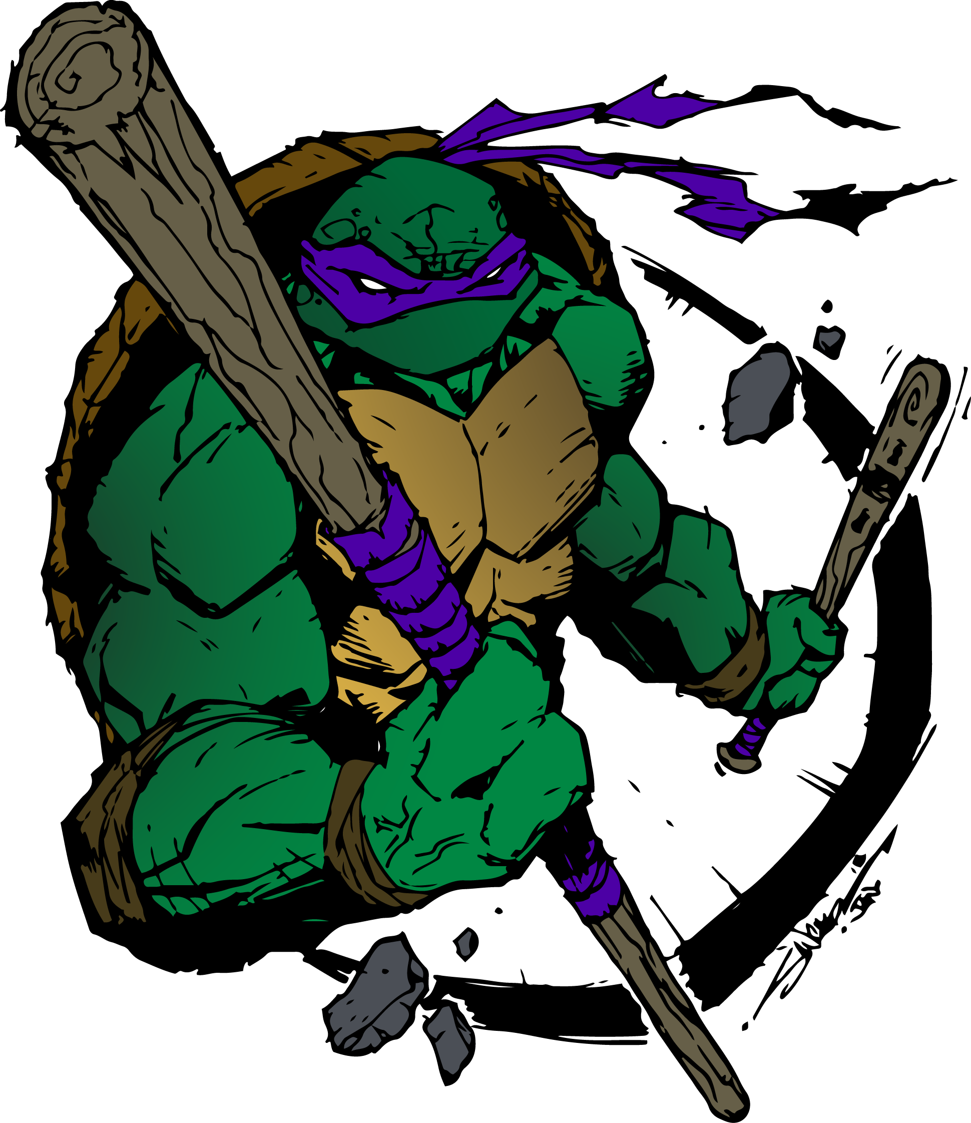 TMNT (Donatello) Inking and Coloring